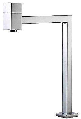 Torneira Quadrada Mesa Cozinha ou Banheiro Bica Alta 90 graus 1/4 Volta C89
