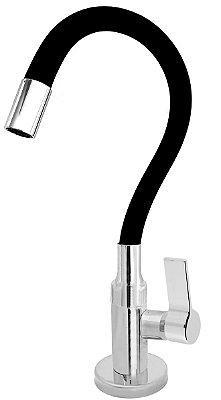 Torneira Cozinha Mesa Flexível Color Preto 1/4 de Volta C77