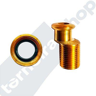 Excêntrico Kit C/ Porca e Anel de Vedação P/ Misturador 1/2'' x 34,50 mm de Parede Luxsanit
