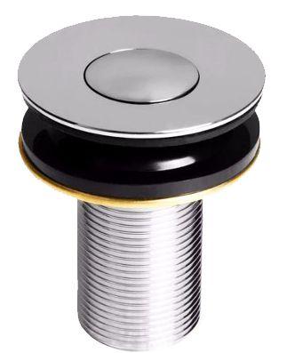 Válvula Click Poup-Up Pia Lavatório Para Escoamento de Água 7/8'' Tampa Interna Metal