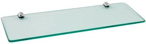 Prateleira de Vidro Temperado 8 mm com Kit Fixação Aço Inox