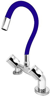 Misturador de Cozinha de Bancada 1/4 de Volta Gourmet Azul C35