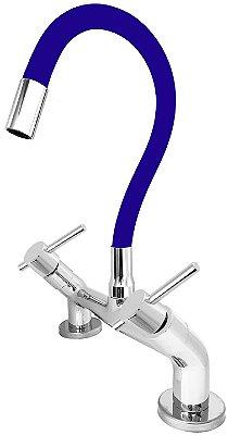 Misturador de Cozinha de Bancada 1/4 de Volta Gourmet Azul C66