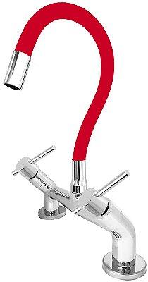 Misturador de Cozinha de Bancada 1/4 de Volta Gourmet Vermelho C66