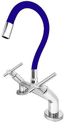 Misturador de Cozinha de Bancada 1/4 de Volta Gourmet Azul C67