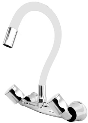 Misturador P/ Cozinha de Parede Gourmet Branco Flexível 1/4 de Volta C35