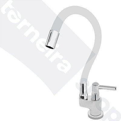 Torneira Gourmet Color Flex de Bancada Bica Móvel Lateral 1/4V Branco C11