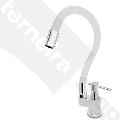 Torneira Gourmet Color Flex de Bancada Bica Móvel Lateral 1/4V Branco C66