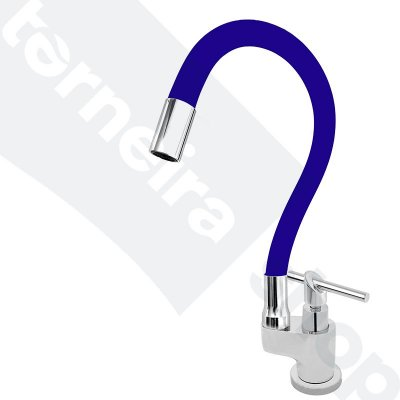 Torneira Gourmet Color Flex de Bancada Bica Móvel Lateral 1/4V Azul C67