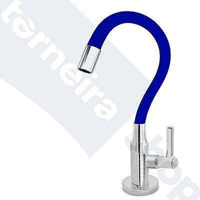 Torneira Cozinha Mesa Flexível Color Azul 1/4 de Volta C11