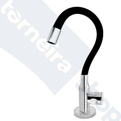 Torneira Cozinha Mesa Flexível Color Preto 1/4 de Volta C35