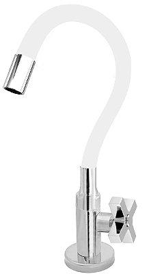 Torneira Cozinha Mesa Flexível Color Branco 1/4 de Volta C44