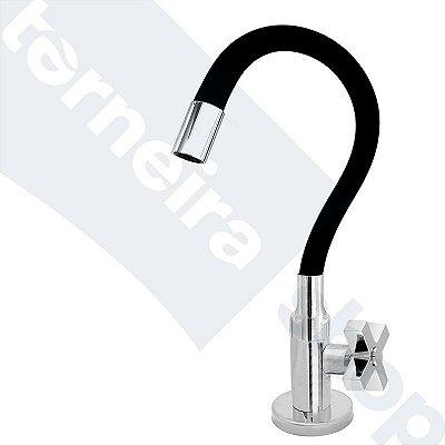 Torneira Cozinha Mesa Flexível Color Preto 1/4 de Volta C44