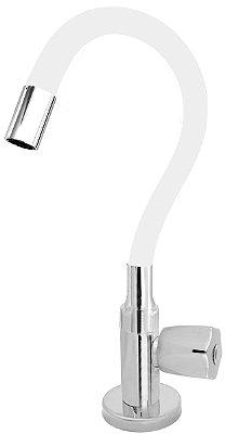 Torneira Cozinha Mesa Flexível Color Branco 1/4 de Volta C50