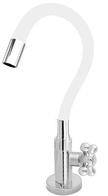 Torneira Cozinha Mesa Flexível Color Branco 1/4 de Volta C52