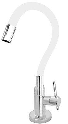 Torneira Cozinha Mesa Flexível Color Branco 1/4 de Volta C66