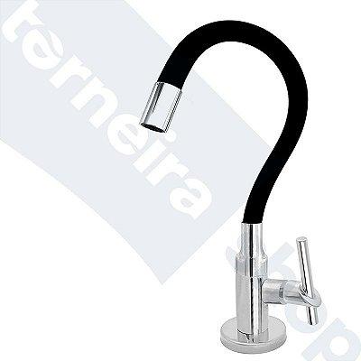 Torneira Cozinha Mesa Flexível Color Preto 1/4 de Volta C67