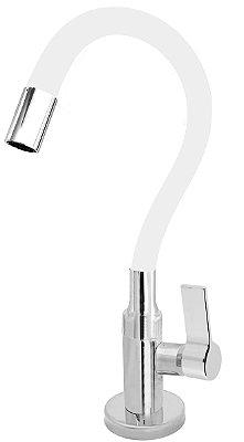 Torneira Cozinha Mesa Flexível Color Branco 1/4 de Volta C77