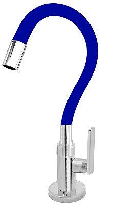 Torneira Cozinha Mesa Flexível Color Azul 1/4 de Volta C79
