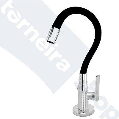 Torneira Cozinha Mesa Flexível Color Preto 1/4 de Volta C79