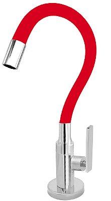 Torneira Cozinha Mesa Flexível Color Vermelha 1/4 de Volta C79