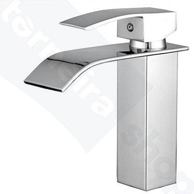 Misturador Monocomando Cascata Mesa Para Banheiros e Lavatórios