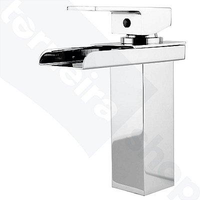Misturador Monocomando Calha Cromado Modelo Baixo P/ Banheiros e Lavatórios