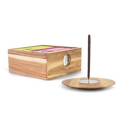 Kit 7 Mais Vendidos + Incensário e Caixa Teca
