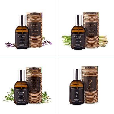 Kit 4 Home Sprays - Lavanda, Alecrim, Capim Limão + 1 à sua escolha