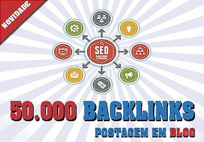 50.000 Backlinks Postagem em Blog