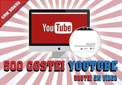 500 Gostei Em Seu Vídeo no Youtube