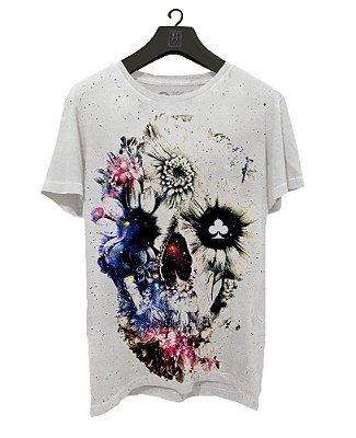 Camiseta Lucky Seven  -Skull Flower