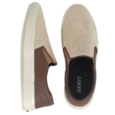 Tênis Slip On - Juta Brown'n Off White