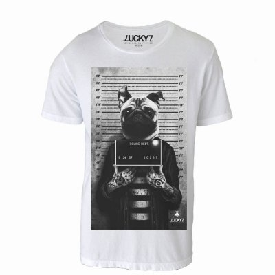 Camiseta Lucky Seven -Criminal Pug
