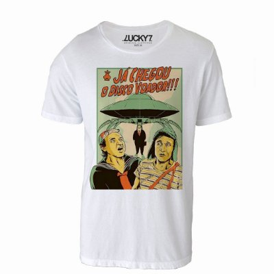 Camiseta Gola Básica - Disco Voador