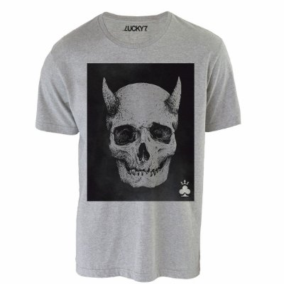 Camiseta Lucky Seven - Horned Skull
