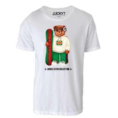 Camiseta Lucky Seven - Bear Surf