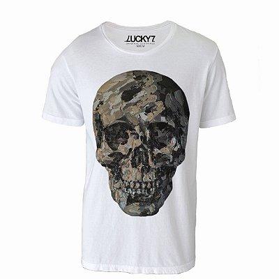 Camiseta Lucky Seven - Gray Skull