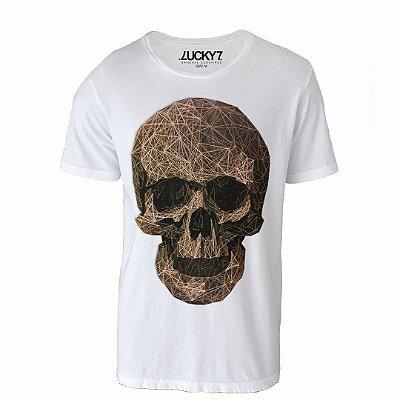 Camiseta Lucky Seven - Caveira Linhas