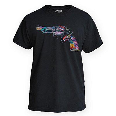 Camiseta Lucky Seven Preta -  38 collors