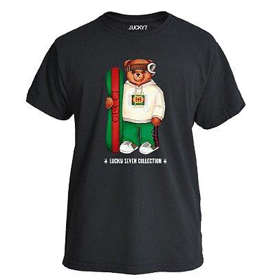 Camiseta Lucky Seven Preta - Bear Surf