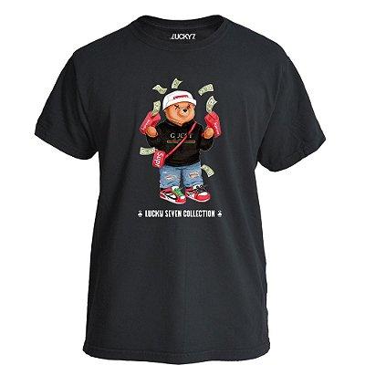 Camiseta Lucky Seven Preta - Bear Dólls