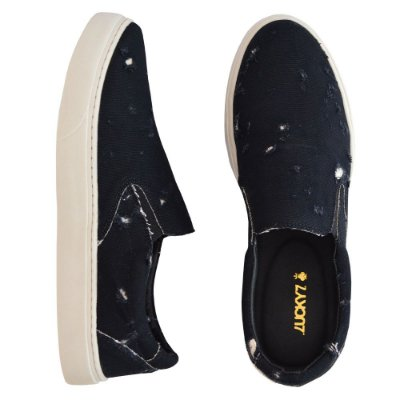 Tênis Slip On - Destroyed Black
