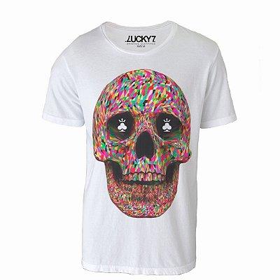 Camiseta Lucky Seven - Abstract Skull