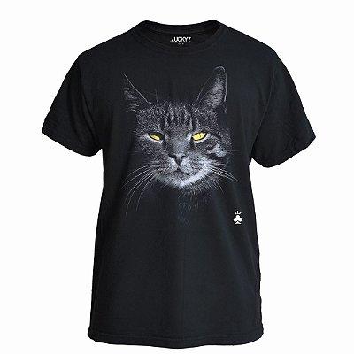 Camiseta Lucky Seven Preta - Lucky Cat