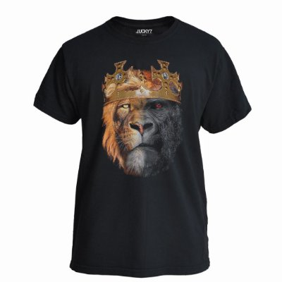 Camiseta Lucky Seven Preta -Jungle Kings