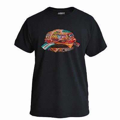 Camiseta Lucky Seven Preta - X-Burguer