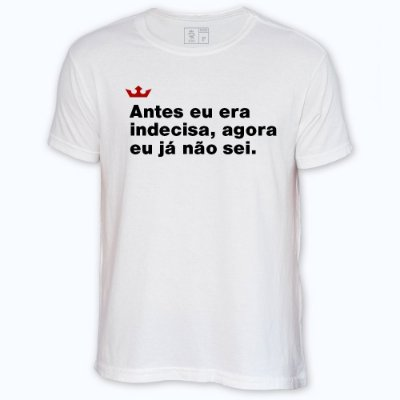 Camiseta Resenha - Antes eu era indecisa