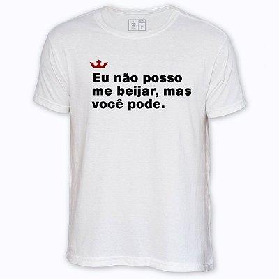 Camiseta Resenha - Eu não posso me beijar, mas você pode.