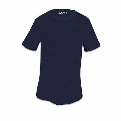 Camiseta Aveludada - Azul Marinho